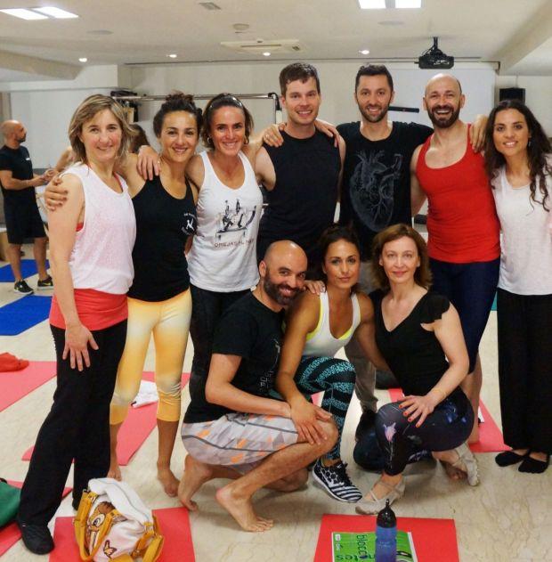 Classical Pilates Pisa 2015: Fernanda Millions during Benjamin Degenhardt Workshop