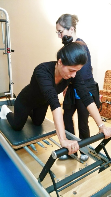 Lesson with reformer- Studio Pilates Sant Celoni