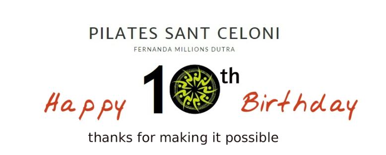 logo pilates Sant Celoni- Fernanda Millions 10 años 2